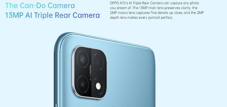 oppo-a15-Camera